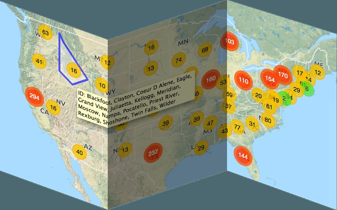 RegionBound | region-aware clustering for maps